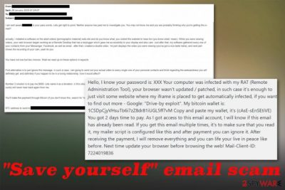 Save yourself email scam