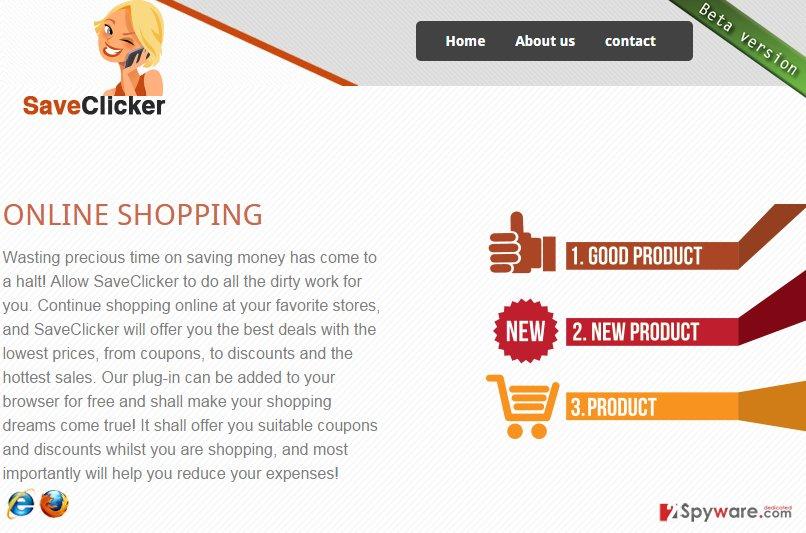 SaveClicker ads snapshot