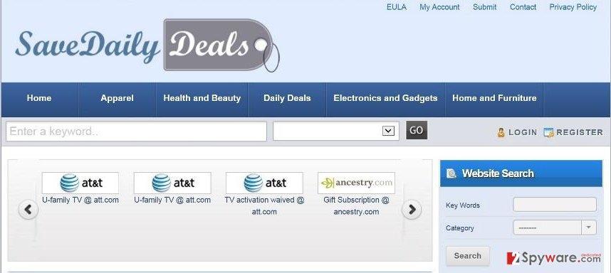 SaveDailyDeals virus snapshot