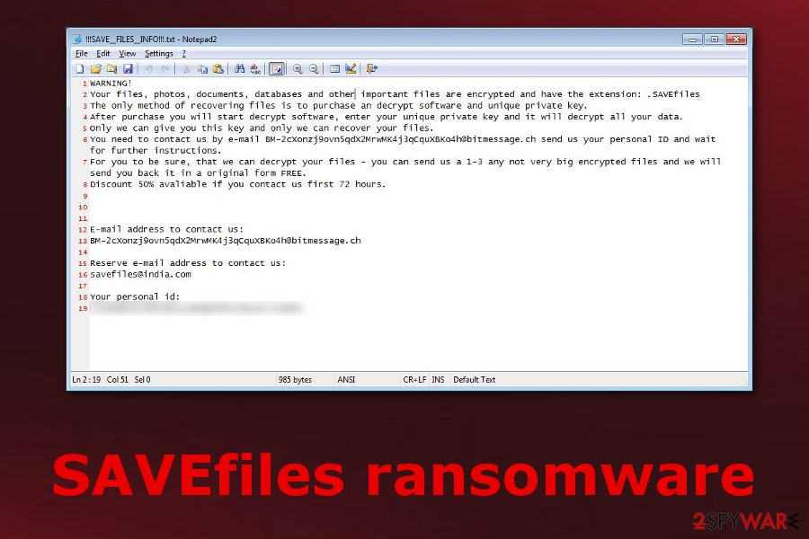 SAVEfiles ransomware