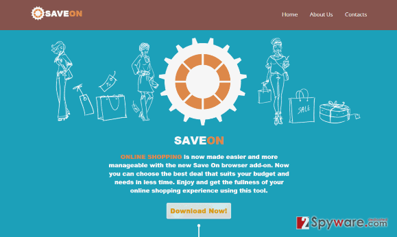 SaveOn virus snapshot