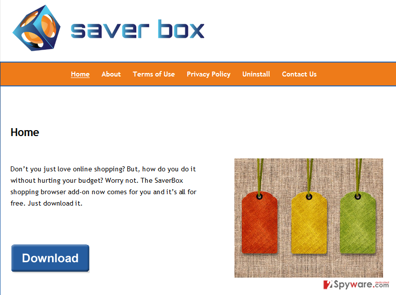 Saver Box ads
