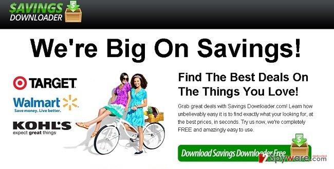 Ads by Savings Downloader snapshot