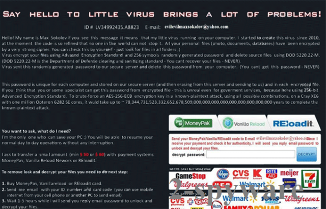 Say Hello To Little Virus Brings A Lot Of Problems virus snapshot