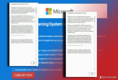 The example of Computer Blocked scam