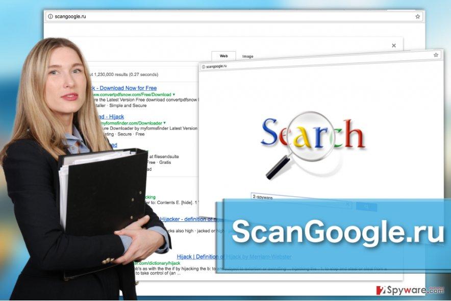 Image of the ScanGoogle.ru virus