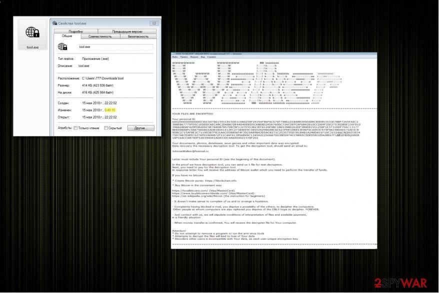 Scarab-Walker ransomware virus
