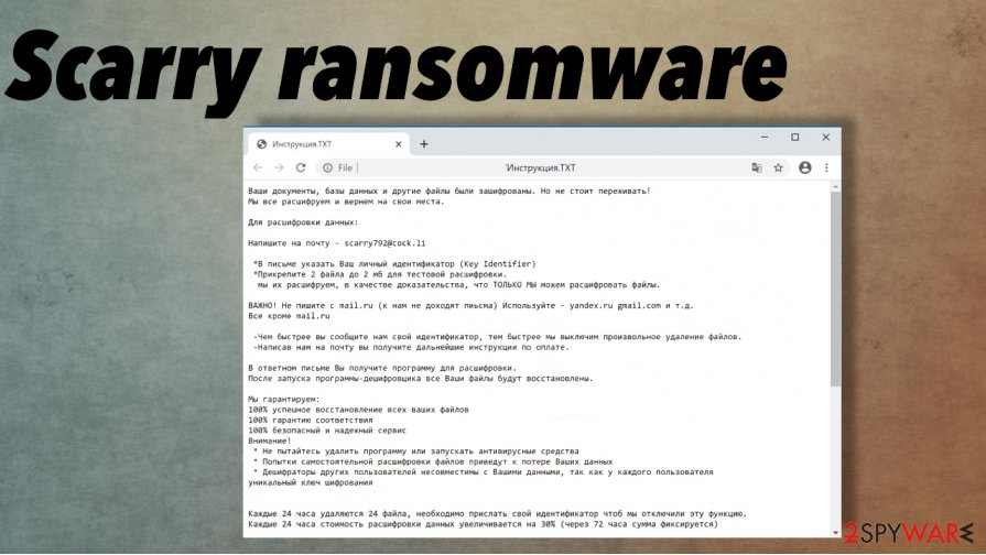 Scarry ransomware
