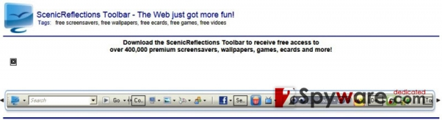 Scenic Reflections Toolbar snapshot