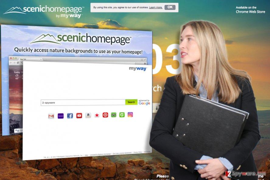 ScenicHomepage extension illustration