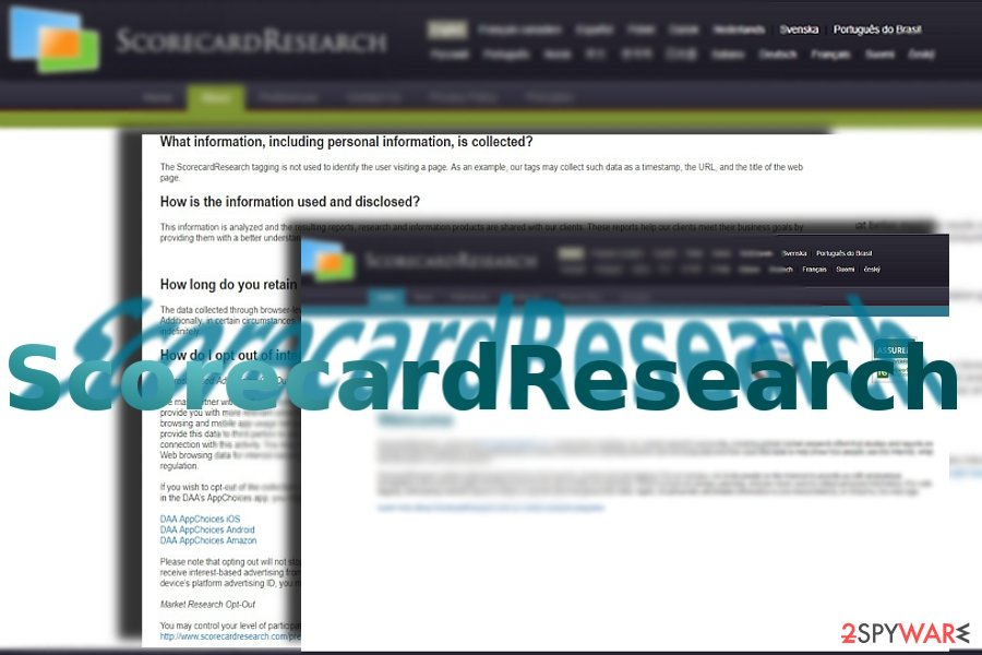 The image displaying ScorecardResearch website