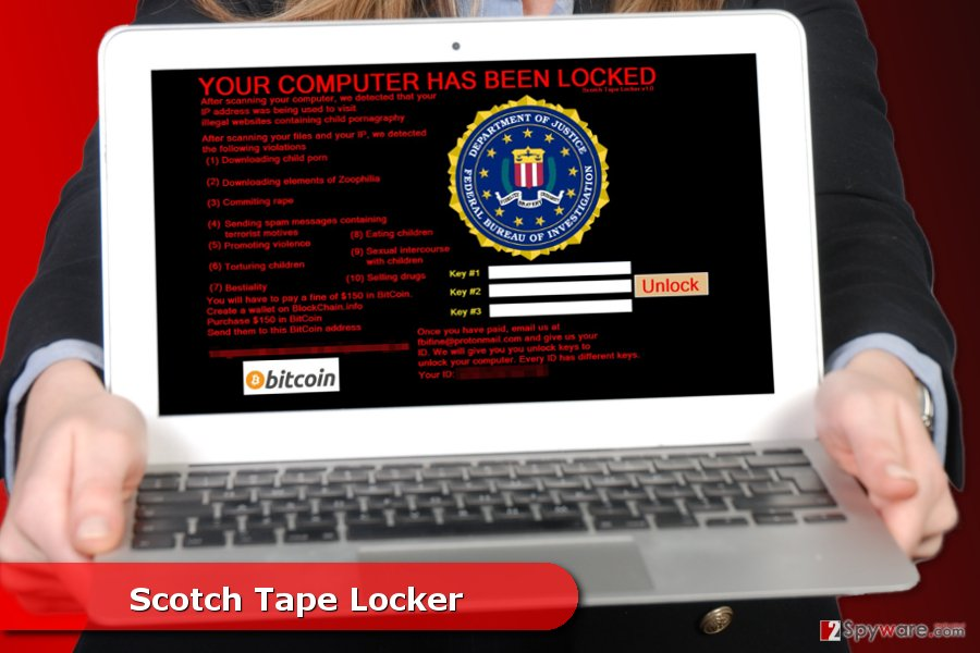 The image of Scotch Tape Locker ransomware virus