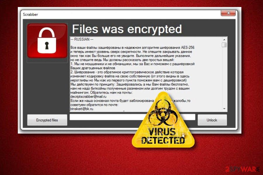 Scrabber ransomware virus