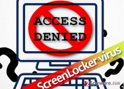 ScreenLocker virus blocks access to PC