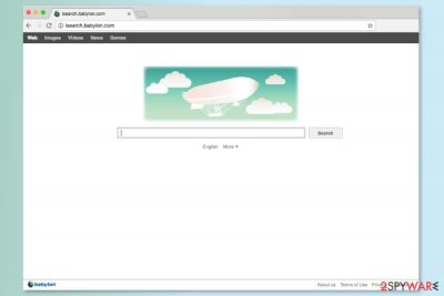 The screenshot of Claro Search main page