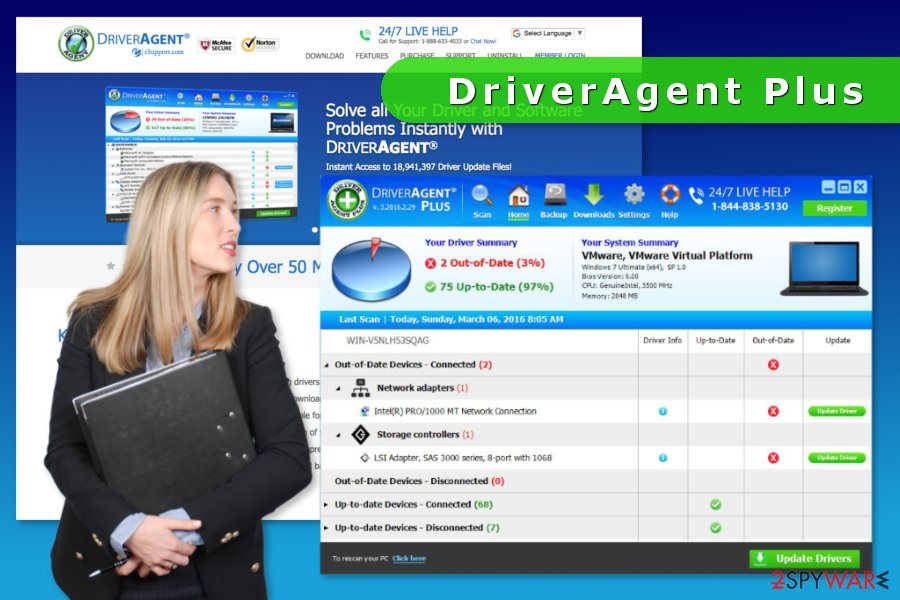 the screenshot of DriverAgent Plus