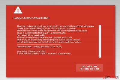 Google chrome critical error red screen