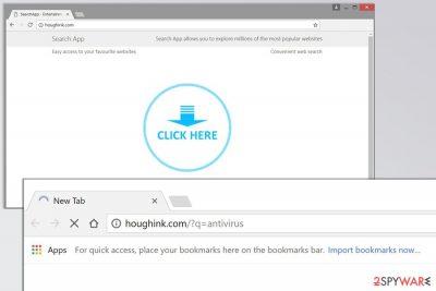 Screenshot of the Houghink.com