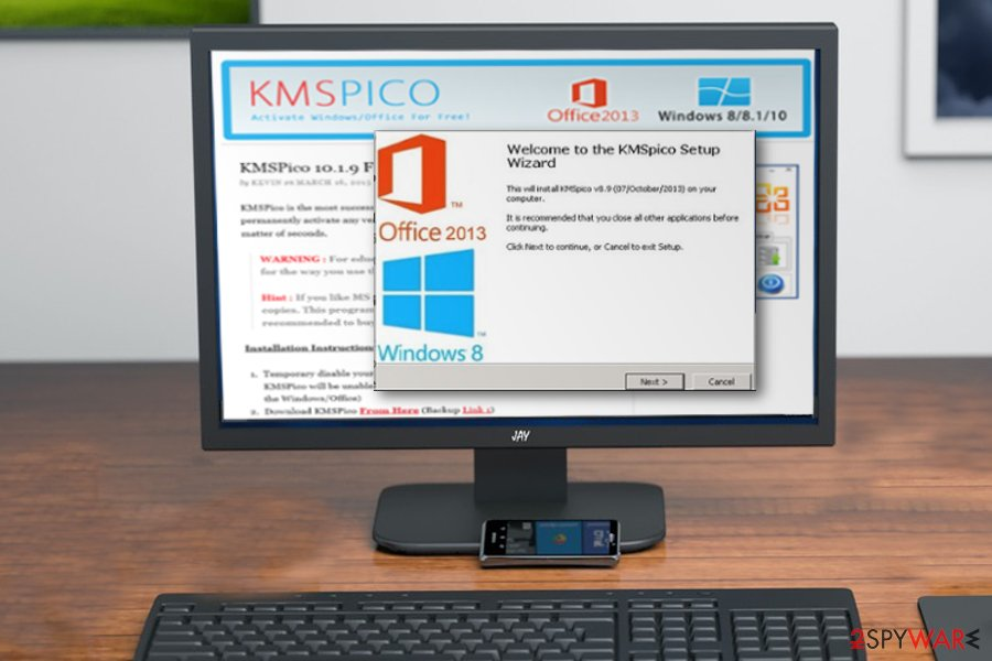 KMSPico illegal Microsoft Office activator