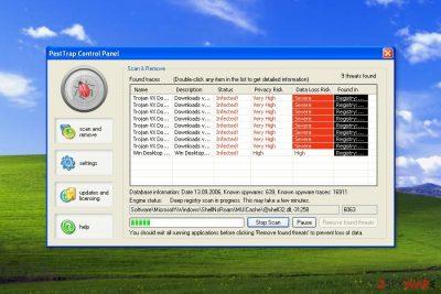 Screenshot of Pest Trap scan