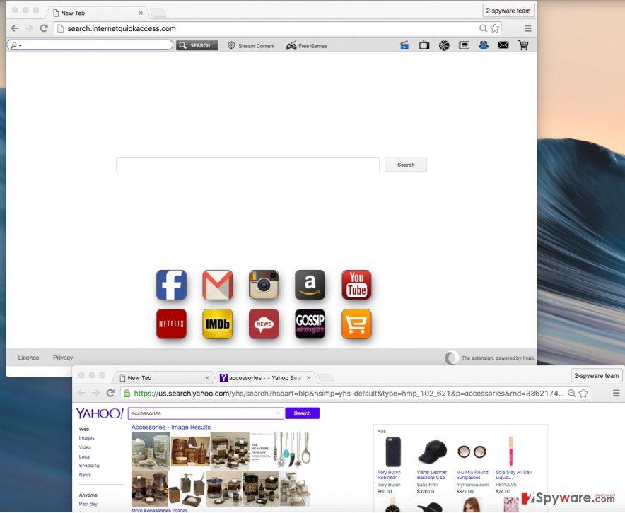 Search.internetquickaccess.com redirect virus