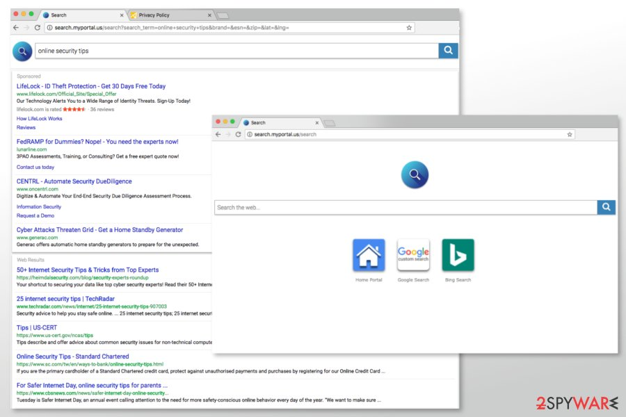 The picture of Search.myportal.us search engine