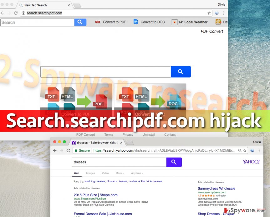 Image of Search.searchipdf.com redirect virus