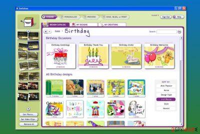 Screenshot of SmileBox
