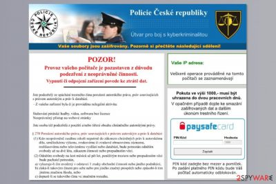 The image of WinLock2 ransomware