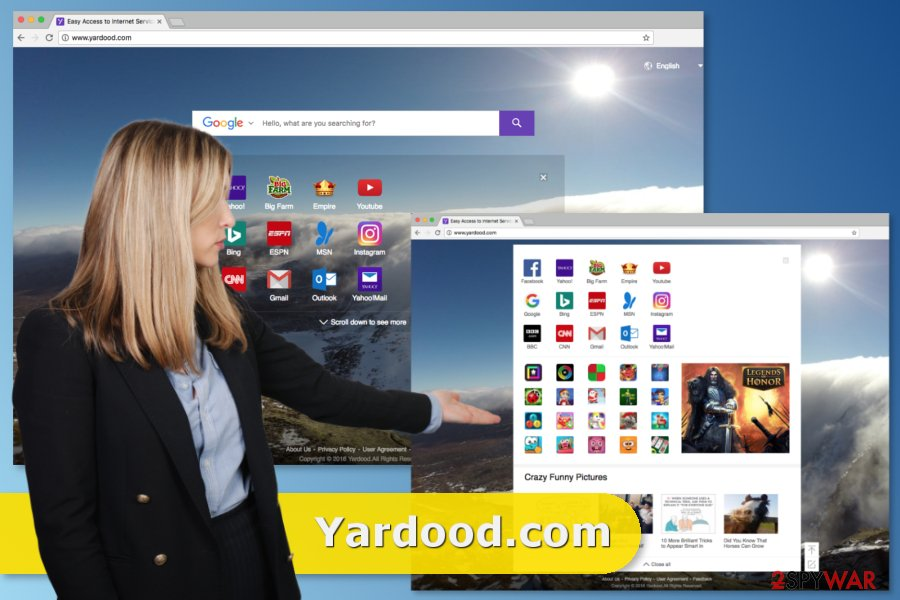 Yardood.com redirect issue