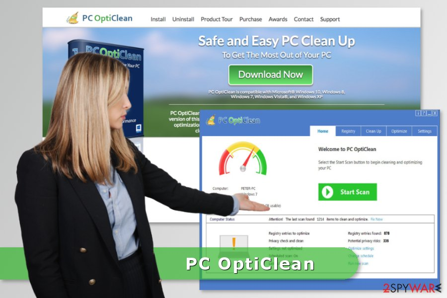Image of PC OptiClean program
