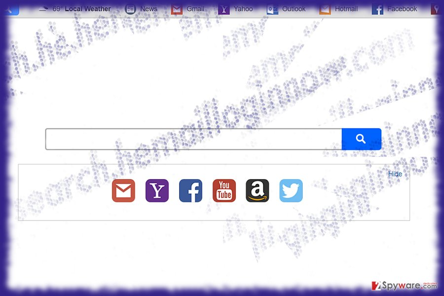 Tthe screenshot of search.hemailloginnow.com