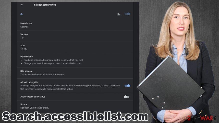 Search.accessiblelist.com virus