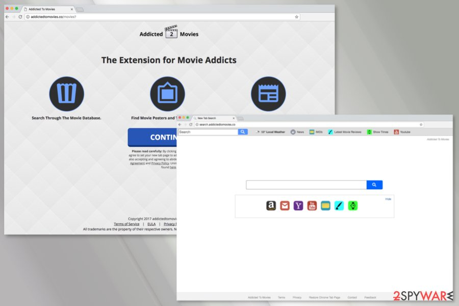 The example of Search.addictedtomovies.co