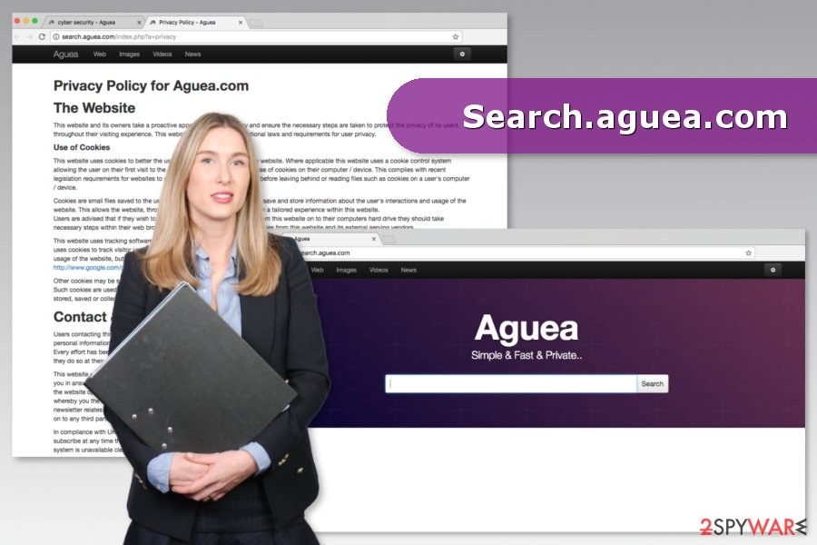 The picture of Search.aguea.com virus