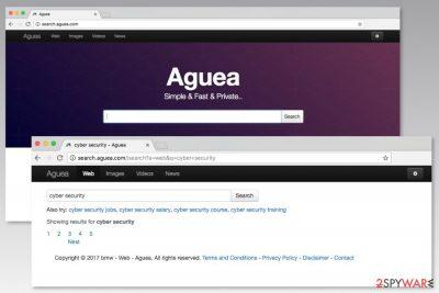 Screenshot of Search.aguea.com