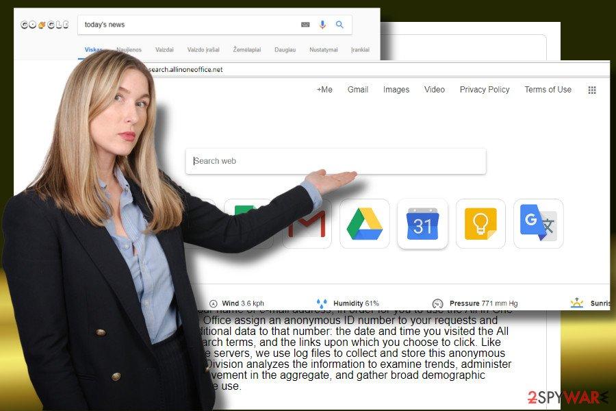 Search.allinoneoffice.net redirect virus