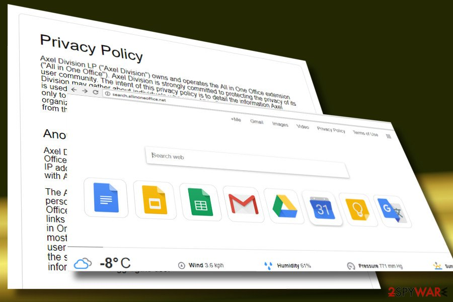 a printscreen of Search.allinoneoffice.net