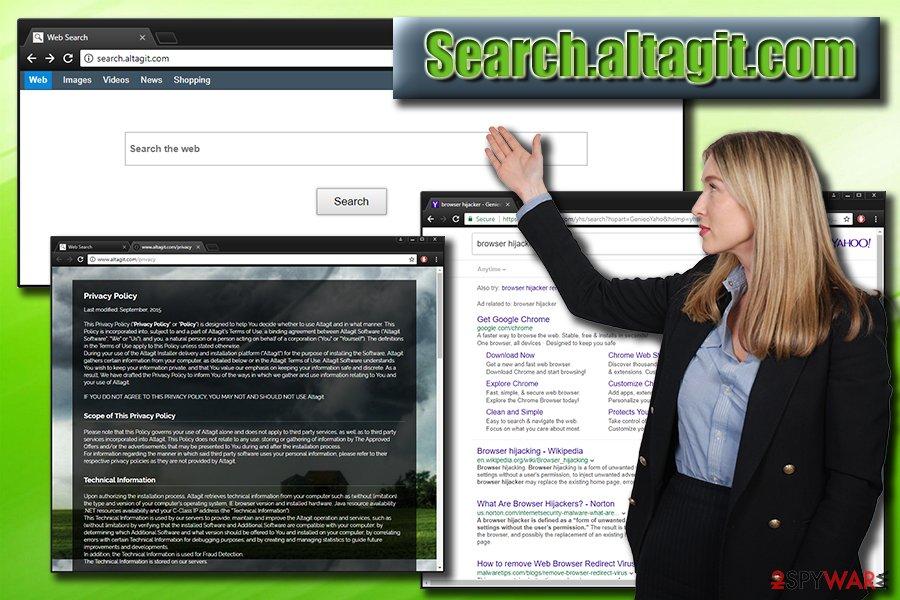 Search.altagit.com browser hijacker