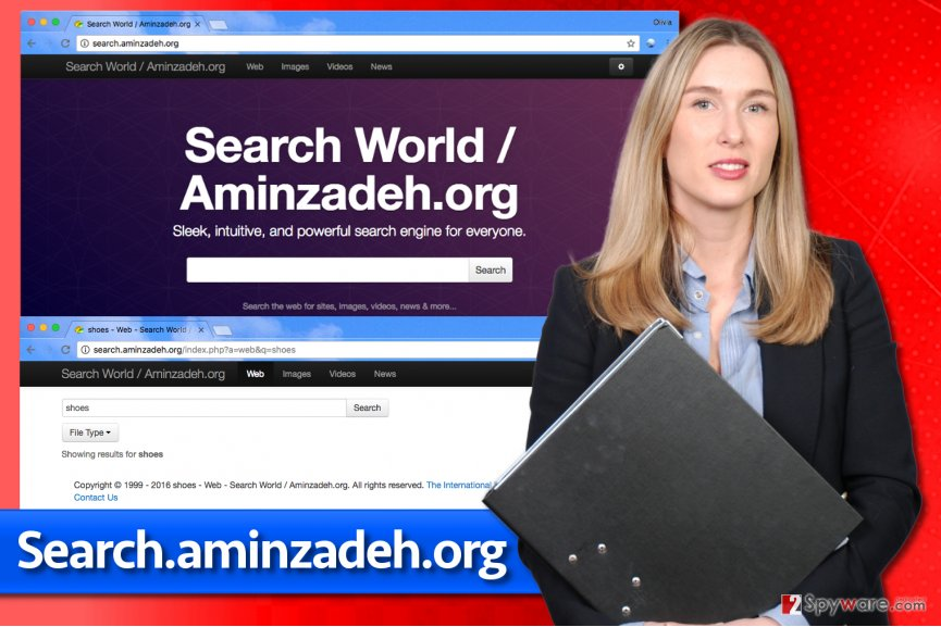 Image of Search.aminzadeh.org virus