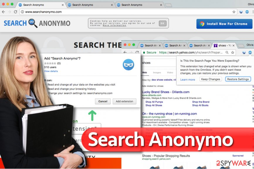 Search Anonymo virus