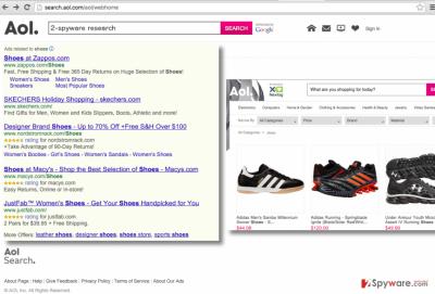 Search.aol.com virus screenshot