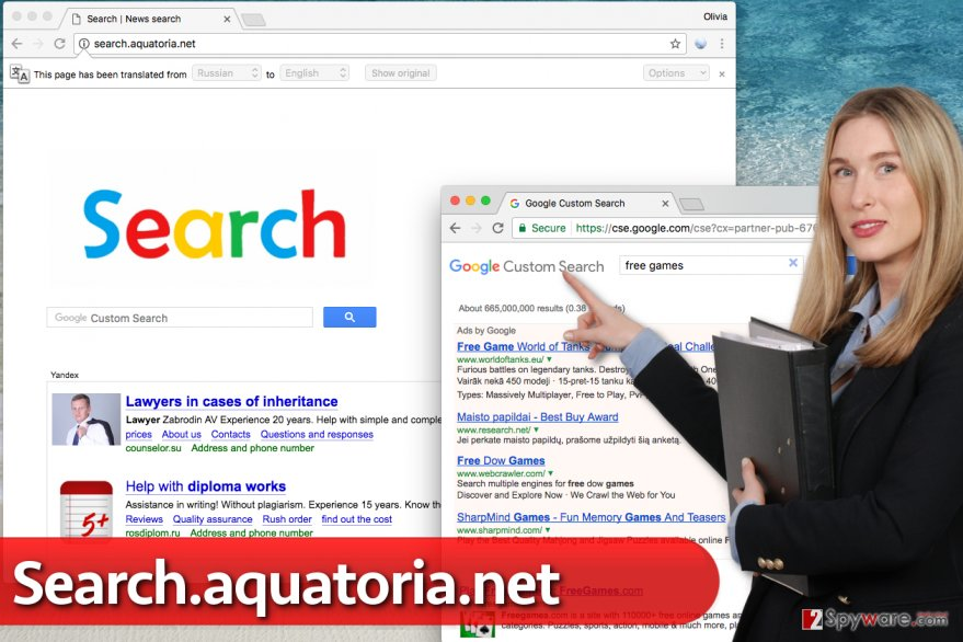 Search.aquatoria.net hijack
