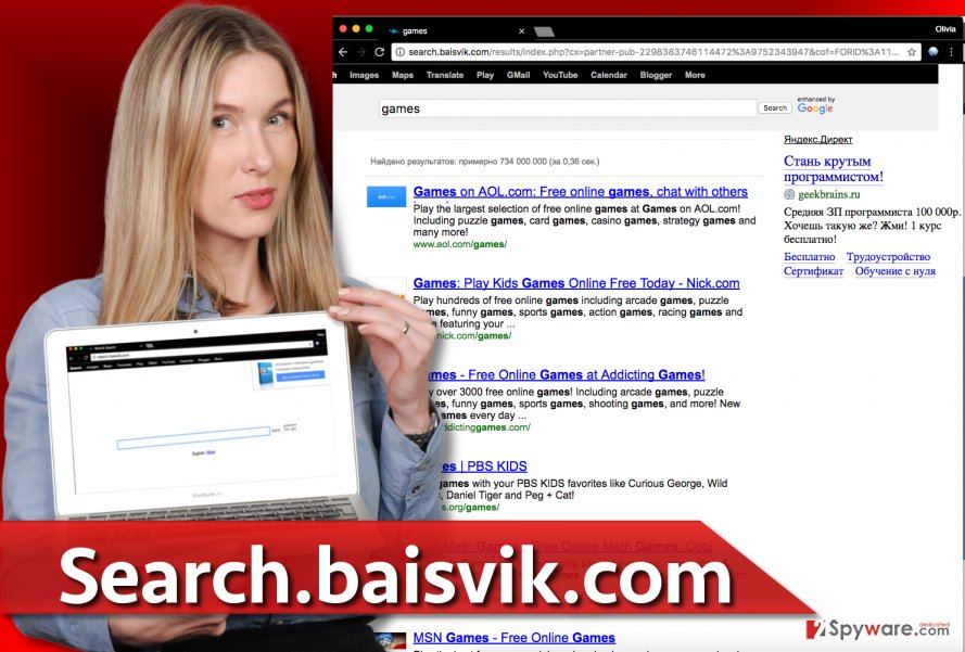 Search.baisvik.com browser redirect virus