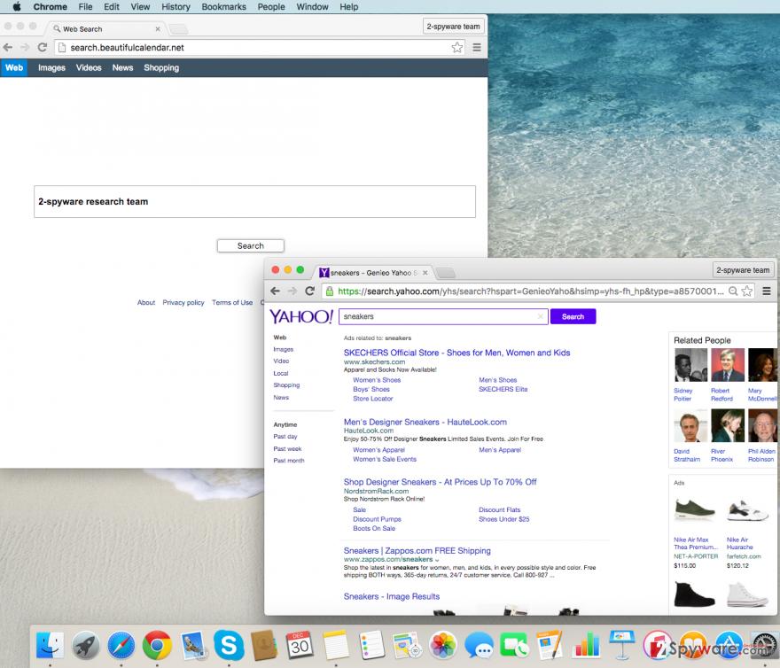 Search.beautifulcalendar.net redirect virus