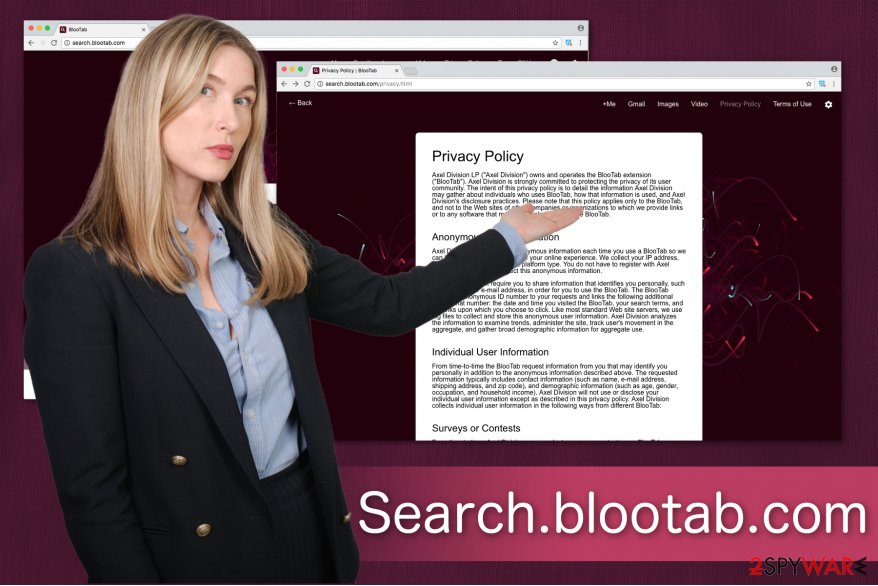 Search.blootab.com privacy policy illustration