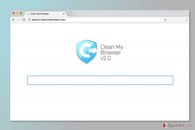 The screenshot of Search.cleanmybrowser.com