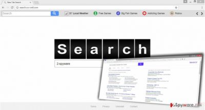 The illustration of Search.co-cmf.com virus