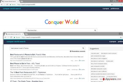 The image of Search.conquerworld.fr virus