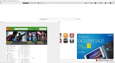 The screenshot of search.cooliosearch.com